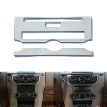 Fit For Land Rover Discovery 4 Car Center Control Dashboard Panel Decorative Bezel Cover Trim Frame Sequins Styling 2PCS/Set