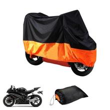 Polyester Taffeta Motorcycle Cover Motorbike Scooter Outdoor Protective Rain Dust Anti-Wind Protector Cover Waterproof