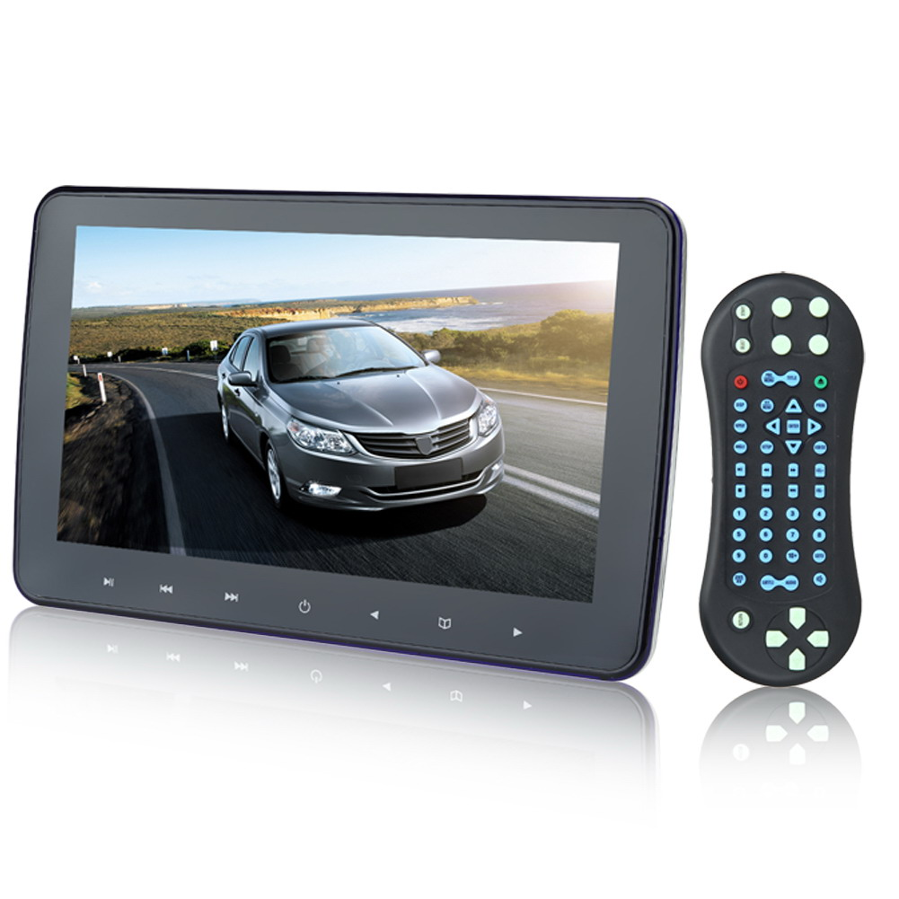 10 1024*600 Car Headrest Monitor DVD Player USB/SD/HDMI/FM TFT LCD Screen Touch Button 32 Bit Game Remote Control<br><br>Aliexpress