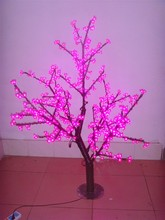 Free ship 4.2ft 1.2M pink LED Cherry Blossom Tree Christmas New year party wedding Holiday Home Garden Light 360 LED waterproof(China)