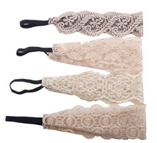 Free Shipping women's fashon lace floral headband girl's hairband hair accessories rubber bands
