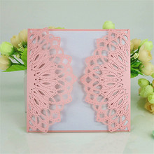 30pcs Wedding Invitations Laser Cutting Invitation Card for banquet Wedding party Invitation card with Blank Inner Sheet 6zSH818