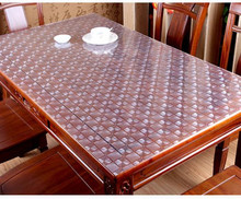 2.0mm plastic crystal table mats soft PVC matt transparent waterproof Coffee table tablecloths thick table cloth