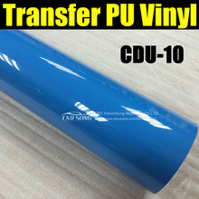 Free shipping CDU-10 SKYE BLUE COLOR Cutter plotter heat transfer pu film with whole roll size:1Yard(50*100cm/lot)(China)