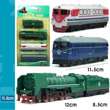 4pcs/set 12cm Vintage  Railway Train Car Coal Train Suit Pocket Alloy Toy Train Model Gift for baby