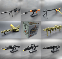 4D Gun Model 1:6 Assembling Weapon Toys Ak47 m82 Machine Gun Mg42 m16 Rifle Submachine 8pcs/set Assembling Classic Toys
