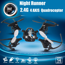 New nightrunner 4CH quadrocopter  2.4G remote control aircraft gyroscope remote control model aircraft with lithium battery