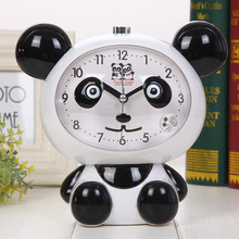Giant Panda Night Light Plastic with Children's Voice Nightlight Alarm Clock Desktop Bell Student Bedroom Bedside Clock