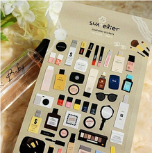 New special makeup series diary stickers Kawaii Single-piece Package Gift stationery sticker office school supplies GT006(China)