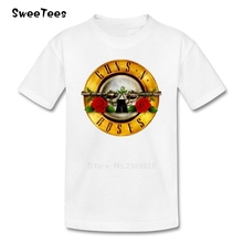 Guns N Roses T Shirt Kid 2017 T-shirt Pure Cotton Round Neck Baby Tshirt children's Infant Toddler Costume For Boy Girl