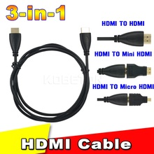 Micro HDMI Converter / Mini HDMI Converter To HDMI Cable Adapter Converter for Xbox 360 for PS3 DVD HDTV 1080P
