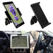 "New 10"" Adjustable Universal Car CD Slot Phone Tablet Mount Holder Stand For Ipad 1 2 For Samsung Tablets & GPS Holder Stander"