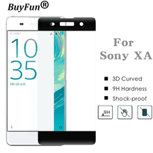 3D Curved Edge Colorful Full Cover Screen Protector For Sony Xperia XA F3111 Tempered Glass For Sony Xperia XA F3111 F3113 F3115