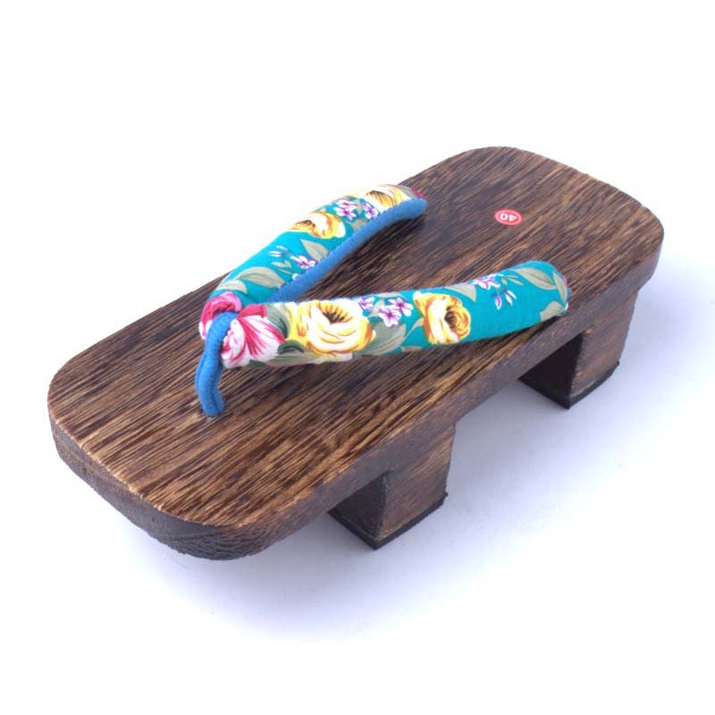 Unisex Cosplay GETA Japanese SAMURAI Clogs Wood Sandals clog shoes flat wood heel square toe shoes summer plank slippers sandals<br><br>Aliexpress