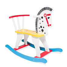 Newest Large SGS CertificationWooden Rocking Horse For Kids Toy Free Shipping Rocking Chair Toys For Children(China)