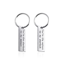 "Fashion Letter ""Moon of My Life, My Sun and Stars"" Keychain Silver Plated Alloy Key Rings Key Holders For Lover Couple Gifts"
