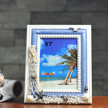Creative Handcrafted Mediterranean Nautical Style Wood Photo Frame Picture Frame Art Home Decor(China)