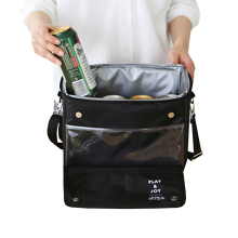 8L Upscale Black Cooler Bag Lunch Picnic Bag Food Thermal Insulation Travel Trips BBQ Fresh Keeping Ice Pack(China)