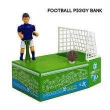 1pc Creative Piggy Bank Money Box Funny Soccer Player Goal Kicking Coin Bank   Football Kids Gifts Home Living Accessories A35