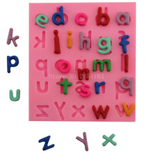 Cartoon English Alphabet Silicone Fondant Soap 3D Cake Mold Cupcake Jelly Candy Chocolate Decoration Baking Tool Moulds FQ3131(China)