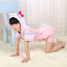 Hello kitty Children summer  onesies Pyjamas Cartoon Animal Cosplay Costume Pajamas jumpsuit Kid Onesies Sleepwear  KK07