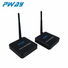 PWAY PW-DT216W-A 100M Wireless HDMI extender transmitter receiver kit up to 100M/328ft supports IR remove control one to two(China)