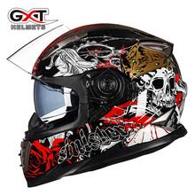 GXT motorcycle helmet male full-helmet personality cool electric vehicle dual lens locomotive full cover running helmet anti-fog(China)