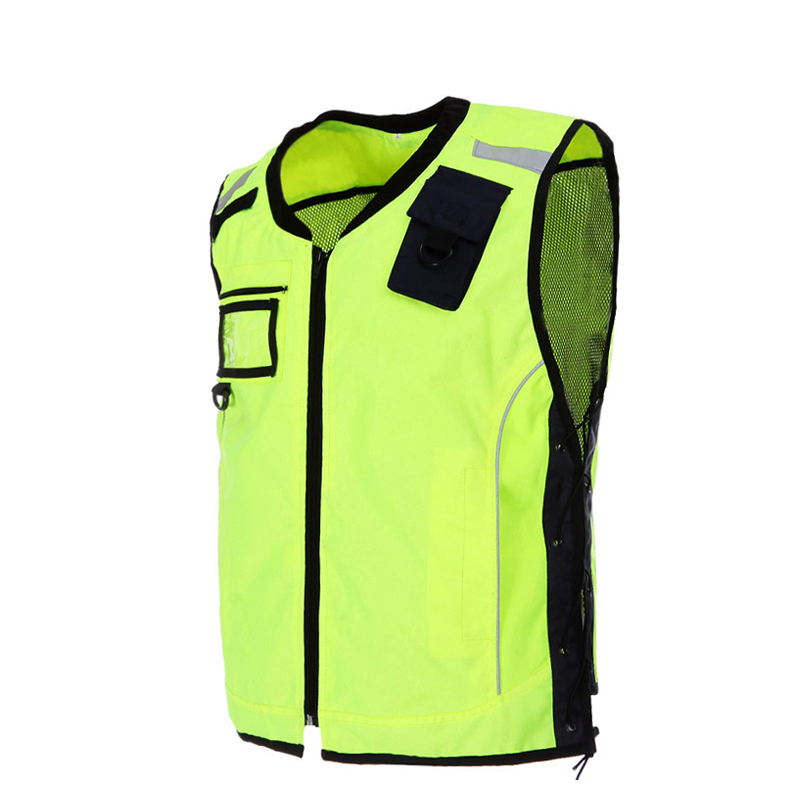 Riding Reflective Clothing Vest Safety Working Vest Windproof Clothes Fluorescent Yellow S-L Size V041101<br>