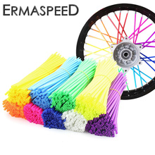 Colorful Florescent Motorcycle Wheel Rim Cover Spoke Skins Wrap Tubes Universal for Dirt Bike ATV Quad Mini Motor PH08 YZ250