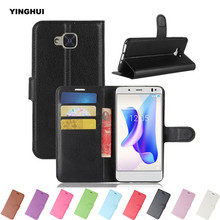 "Buy YINGHUI BQ Aquaris U2 Retro PU Leather Wallet Phone Case Book Style Flip Protector Silicone Shell Skin Cover 5.2"" Card Slots for $3.73 in AliExpress store"