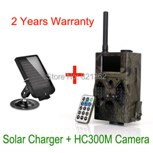 940nm Sightless MMS GPRS Hunting Game Camera Wild Trail Cameras GPRS MMS + Solar Panel Charger