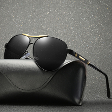 2018 Men Polarized Mirror Oval Sunglasses Black Lens Color UV400 With Box,Case