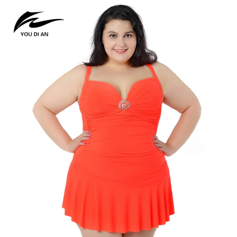 New Summwe Sexy Women Swimsuit One Piece Swimsuit Bathing Dress  Swimwear Big Lady Beach Dress Plus Size 2XL-6XL<br>