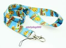 Lot 10Pcs Cartoon Japanese anime Adventure Time Mobile Cell Phone Lanyard Neck Straps Party Gifts A63(China)