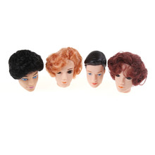 1pcs hot sale 3D Supersize Eyes Doll Head With colorful Hair For Ken Male Doll Heads Toy For Barbie Boyfriend Accessories(China)