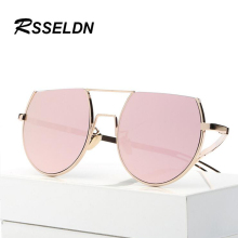 RSSELDN Latest Fashion Trend in Half Round Design Sunglasses Men And Women in Europe and The Star With the Glasses UV400 Coating