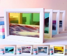 ABS Moving sand glass picture photo frame Home/Office decor ornament xmas Birthday gifts