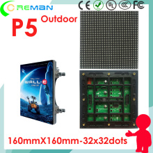 32x32 32x64 outdoor led dot matrix panel for p5 led moving sign 3G 4G 5G wireless ,outdoor full color led display p5 module