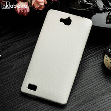 AKABEILA Luxury Phone Cases For Huawei Honor 3C Phone Case Honor3C 5.0 inch Covers Shell Skin Bags PC PU Black SCBL01(China)