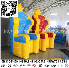 Inflatable crown chair for kids/air bouncer chair /crown royal chair(China)