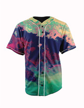 Real American Size splatter rolls royce 3D Sublimation Print Custom made Button up baseball jersey plus size