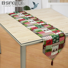 Vintage Christmas American Style Table Runner 33x280cm Large Size Red Green Colors Elk Snowflake Xmas Tree Printed Table Cover(China)