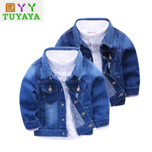 2017 Spring Baby Girl Jeans Coats Clothes Children Clothing Kids Outwear Toddler Boys Blazer Kids Denim Jackets Coats