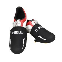 1 Pair Black Windproof Warm Bicycle Shoe Front Covers Cycling Sneaker Cover Footwear Overshoe Accessories