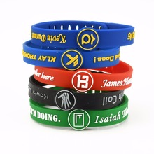 KLEEDER Silicone Bracelets for Women Men's Adjustable Bangles Basketball lover Fans Wrist Strap Signature Sports jewelry(China)