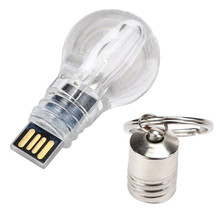2016 New Arrival USB 2.0 32GB Blue LED light Lamp Bulb Model Small Simple Memory Flash Stick Pen Drive U Disk Hillsionly(China)