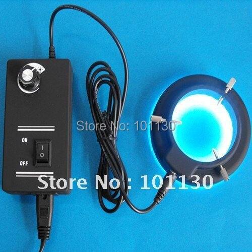 White Light 60mm binocular Stereo Microscope lighting Ring Lamp with 60pcs LED Lights and Adapter 110v-240v<br><br>Aliexpress