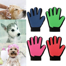 Touch Pet Dog Hair Glove massage Gentle Efficient Pet Grooming Dogs Bath Pet Glove Supplies Cleaning Pet Brush Glove