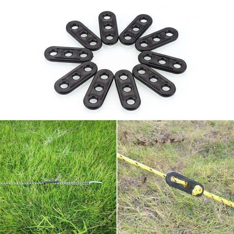 6Pcs//Pack Luminous Camp Tent Lock Guyline Runner Rope Tightener Cord Tensioner