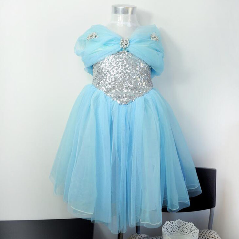 New design Sequined Cinderella princess costumes cosplay cute kids performance clothes cartoon girls dress Baby party clothing<br><br>Aliexpress